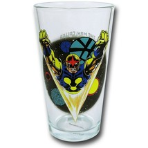 Nova Clear Pint Glass Black - $19.98
