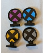 4 Uncanny X Men Alert Adventure Board Game Playing Pieces Replacement Part - $9.49