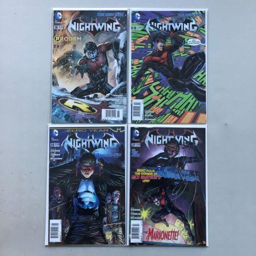 Lot of 9 Nightwing (1996-2009) #87 96 98 112 (2011) #11 18 19 25 27 VF Very Fine