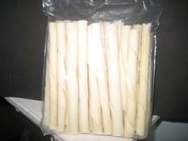"30 pack 5"" natural flavored rawhide twist sticks - $6.65"