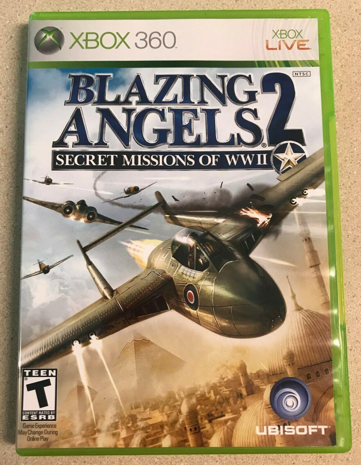 Blazing Angels 2: Secret Missions of WWII (Microsoft Xbox 360, 2007) Game