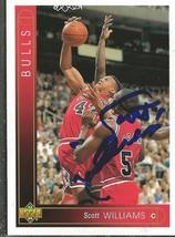 Scott Williams 1993 Upper Deck Autograph #306 Bulls - £11.37 GBP