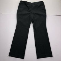 Ann Taylor Women's Petite Size 12P Black Straight Dark Gray Dress Pants - $18.79