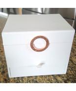 BVLGARI Parfums Paper Jewelry Cosmetic Vanity Organizer Box White  - $26.99