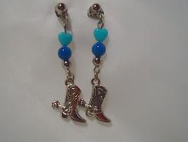 Vintage Avon Western Style Boots Pierced Earrings 1994 - $8.99