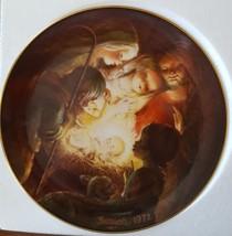 Vtg Schmid CHRISTMAS NATIVITY PLATE 1972 JUAN FERRANDIZ  in BOX Western ... - $15.83