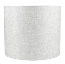 Urbanest Classic Drum Metallic Fabric Lampshade, 12-inch by 12-inch by 10-inch,  image 3