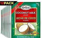 Grace Dry Coconut Milk Powder - 12 pack - No Preservatives no Refrigeration - $29.66