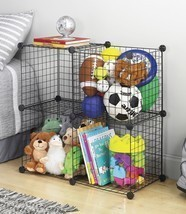 Whitmor 4 Storage Cubes, Organize, Room, Home, Garage, Office, Black,Cub... - $29.49