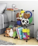 Whitmor 4 Storage Cubes, Organize, Room, Home, Garage, Office, Black,Cub... - £21.64 GBP