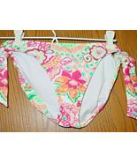 Women's Tommy Hilfiger White Pink Floral Bikini Swimsuit Bottoms-XS-NWT-... - $12.82