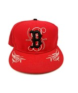 New Era 59Fifty Boston Red Sox Fitted Hat Size 7-3/8 Red & White Basebal... - $14.01