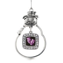 Inspired Silver Drama Faces Classic Holiday Christmas Tree Ornament With Crystal - €12,87 EUR