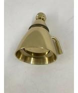 "Adjustable Spray 2-7/8"" Shower Head with Valve Lever in Brass - $25.24"
