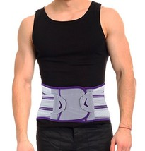 ORTONYX Lower Back Brace and Support Belt with Removable Massage Lumbar ... - $46.72