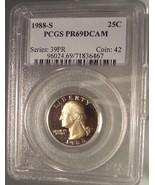 1988-S Clad Proof Washington Quarter PCGS PR69DCAM #G068 - $11.99