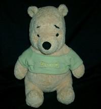 """12 """" Disney Winnie The Pooh Baby Weiche Rassel Plüschtier Plüsch Spielzeug Grün - $21.40"""