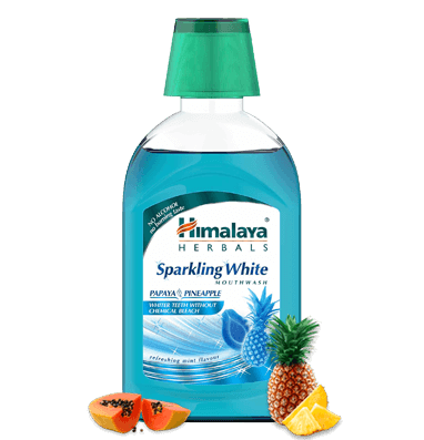 Himalaya Herbal Sparkling White Mouthwash - Whiter teeth without chemical bleach - $35.09 - $1,144.80