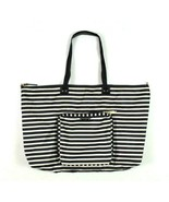 Kate Spade Weekender Pop Up Duffel Bag Travel Carry On Tote Black White ... - $94.04