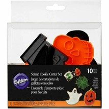 Wilton Spooky Stamp Cookie Cutter 10 pc  Set Halloween - $8.69