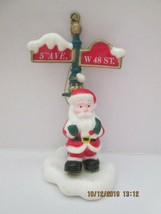 Santa by 5th Ave, W 48 St Sign Post Christmas Ornament, Santa's Gallery,... - $5.00