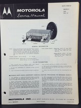 Motorola 1955-56 Pontiac Auto Radio Service Manual Model 596 - $14.84