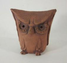 VIintage Scenna Terra Cotta Owl - $16.78