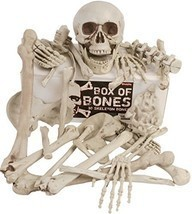 Halloween Box Of Bones 30 Pc Decor Set With Skull Flexible Jaw Skeleton ... - $510,11 MXN