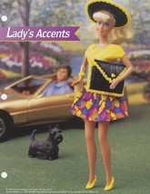 Lady's Accents, Annie's Fashion Doll Plastic Canvas Pattern Leaflet FP23-03 - $1.95