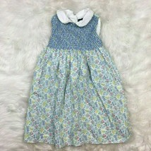 Ralph Lauren Girls Toddlers Blue Classic Smocked Floral 90s Dress Size 2T - $14.84