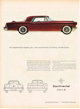 Vintage 1956 Magazine Ad Lincoln Continental Mark II Experience Awaits You - $5.93