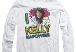 Kelly Kapowski Saved by the Bell t-shirt Retro 80's long sleeve T-shirt NBC144 image 3
