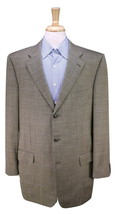 * ERMENEGILDO ZEGNA * Gold/Black Woven Windowpane 3-Btn Wool Sportcoat 44L - $49.00