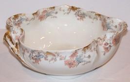 """Vintage Haviland H & Co Limoges France Holstein Duren Koln Floral Leaf 10"""" Bowl - $84.14"""