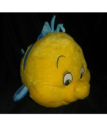"15"" BIG DISNEY THE LITTLE MERMAID YELLOW FLOUNDER FISH STUFFED ANIMAL PL... - $23.38"