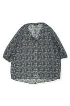 George - MODA black pattern semi sheer blouse top Size 20 - $18.99