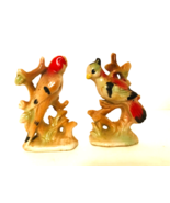 """Pair of Antique Porcelain Birds Stamped JAPAN 3.5"""" Tall  - $23.76"""
