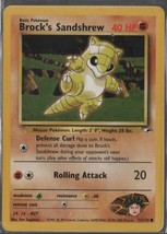 Brock's Sandshrew - Pokemon Colllectible Card Game - Fighting  - 1999 - ... - $0.97