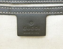 Authentic GUCCI Brown GG PVC Canvas and Leather Shoulder Bag Purse #33012 image 11