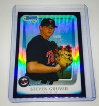 MLB STEVEN GRUVER MINNESOTA TWINS 2011 BOWMAN CHROME PURPLE REFRACTOR #B... - $1.70