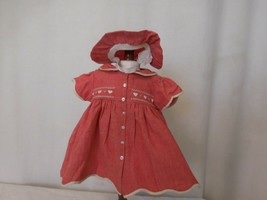 American Girl Pleasant Company Bitty Baby Valentine's day Outfit 1997 Dress Hat - $31.70