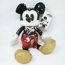 """15"""" NEW W TAG DISNEY 2019 SEQUIN MICKEY MOUSE STUFFED ANIMAL PLUSH TOY S... - $45.82"""