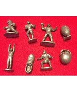 NFL Monopoly 1998 Board  Replacement Part Movers Lot of 8 pewter Helmet ... - $10.25