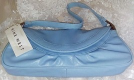 "Nine West Light Blue Handbag R-Beneathye - 4.5"" x 10.5"" x 1.5"" - New With Tags - $23.16"