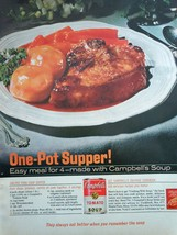 Campbell's Tomato Soup One Pot Supper Print Magazine Advertisement 1966 - $4.99