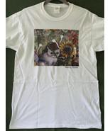 Unisex Medium Cat Art T-Shirt -  Lily and the Sunflower - $20.00