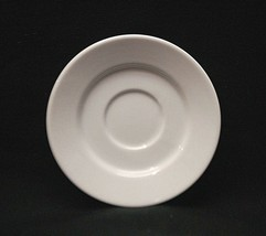 "Classic Style White Demitasse 5-1/4"" Saucer Plate Unknown Maker - $8.90"