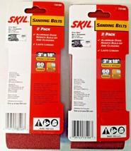 "SKIL 73106 3"" x 18"" 60 Grit Sanding Belts Germany 2-2 PKS - $3.47"
