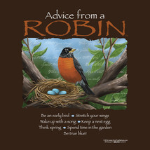 T-shirt Robin NWT Gildan Advice Bird Wildlife Cotton Unisex S M L XL 2XL - $20.20
