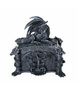 Pacific Giftware Medieval Ferocious Dragon Lidded Trinket Jewelry Box De... - £17.51 GBP